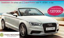 Audi A3 Cabrio oder CHF 40'000.- Bargeld gewinnen