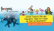 20'000 Tickets für einen Famigros-Tag in 4 Zoos gewinnen
