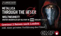 2×1 Reise nach London inkl. einer privaten Vorführung des Films «METALLICA – Through The Never» gewinnen