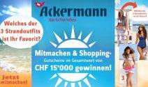 150 Ackermann Gutscheine im Gesamtwert von 15'000.- gewinnen