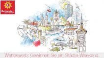Wochenende zu zweit in Zürich, Bern oder Luzern gewinnen