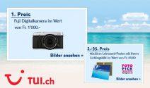 Fuji Digitalkamera im Wert von CHF 1'000.- oder eine Fotoleinwand gewinnen