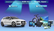 Audi A3 oder über CHF 32'000.- gewinnen