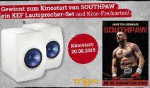 KEF Lautsprecher-Set sowie Kinotrickets zum «Southpaw» gewinnen