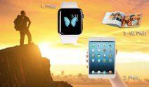 Apple Watch Sport, iPad mini und Fotobuch Gutscheine von fotoCharly gewinnen