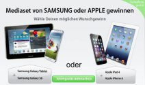 Samsung Galaxy Tab & Samsung Galaxy S6 oder iPad 4 & iPhone 6 gewinnen
