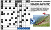 Jeden Tag CHF 100.- oder 2 Tickets für die Fahrt mit der Brienz Rothorn Bahn gewinnen