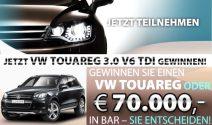 VW Touareg oder über CHF 75'000.- in bar gewinnen