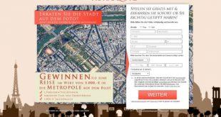Reise nach Paris im Wert von über 5000.- gewinnen