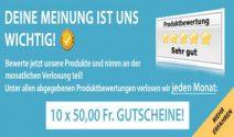 10 x CHF 50.- Gutscheine gewinnen!