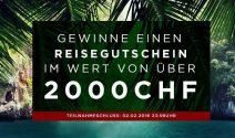Einen Reisegutschein im Wert von über CHF  2'000.- gewinnen
