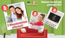 3 Monatsmieten, eine zweijährige Mietkaution oder eine IziBiz-Karte gewinnen