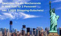 Eine New York Reise zu zweit + USD 1'000.- Shopping-Gutschein gewinnen
