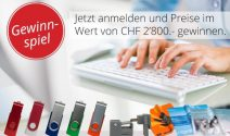 USB-Sticks und weitere tolle Preise im Wert von CHF 2'800.- gewinnen
