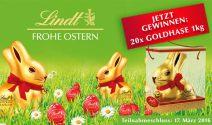 20x einen 1kg-Goldhasen von Lindt gewinnen