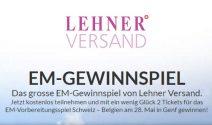 EM Gewinnspiel von Lehner Versand