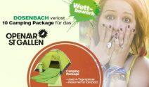 10 x OpenAir St. Gallen Camping Packages gewinnen