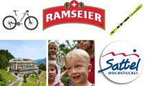Braunwald Ferien, Mountainbike, Stöckli Ski, Schiffausflug und viel mehr gewinnen