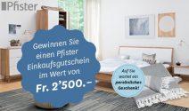 Pfister Gutschein im Wert von CHF 2'500.- gewinnen