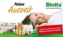 Wellness Paket mit Biotta Produkten gewinnen