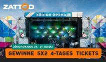 5 x 2 Zürich OpenAir Tagespässe gewinnen