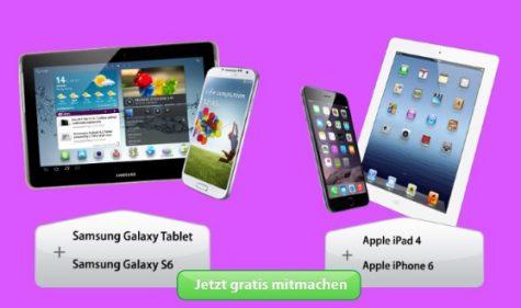 Apple oder Samsung Set gewinnen