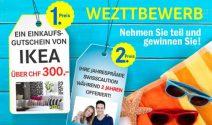 IKEA Gutschein à CHF 300.- und Jahresprämie für zwei Jahren gewinnen