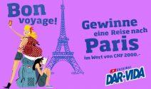 Paris Reise im Wert von CHF 2'000.- gewinnen