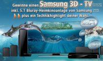 Samsung 3D TV, PS4 und mehr gewinnen