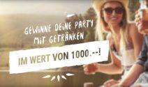 Eine Party mit Getränken im Wert von CHF 1'000.- gewinnen