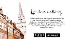London Weekend zu zweit  inkl. Hin- und Rückflug ab Zürich gewinnen