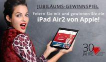 Mitfeiern und iPad Air2 gewinnen