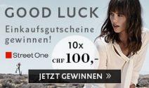 Street One Gutscheine im Wert von CHF 1'000.- gewinnen