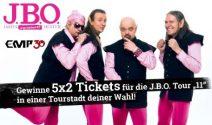 5 x 2 J.B.O. Tickets für das Konzert nach Wahl gewinnen