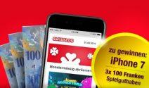 iPhone 7 und 3 x CHF 100.- Swisslos Guthaben gewinnen
