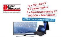 LCD TV, Galaxy TabPro, Samsung S7 und zahlreiche Sofortpreise gewinnen