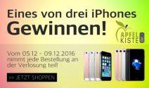 3 x iPhone in der Farbe nach Wahl gewinnen
