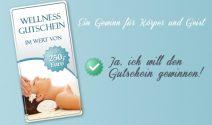 Wellness Gutschein im Wert von über CHF 250.- gewinnen