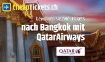 2 x Bangkok Tickets von Qatar Airways gewinnen