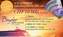 Kreuzfahrt oder Bargeld im Wert von CHF 12'000.- gewinnen