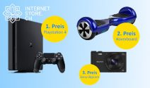 PS 4, Hoverboard, Sony Kamera oder USB Sticks gewinnen
