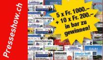 Bargeld im Wert von CHF 7'000.- gewinnen
