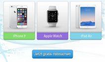 iPhone 7, Apple Watch oder iPad Air gewinnen
