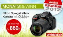 Nikon Kamera im Wert von CHF 860.- gewinnen