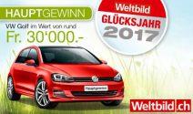 VW Golf im Wert von CHF 30'000.- und vieles mehr gewinnen