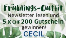 5 x Cecil Gutschein im Wert von CHF 1'000.- gewinnen