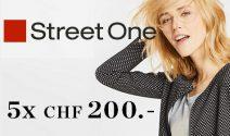 5 x Street One Gutschein im Wert von CHF 1'000.- gewinnen