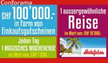 CHF 10'000.- Hotelplan Gutschein und vieles mehr gewinnen