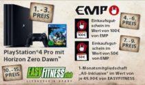 PS 4, EMP Gutschein oder Fitness Abo gewinnen