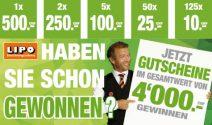 183 x Lipo Gutschein im Wert von CHF 4'000.- gewinnen